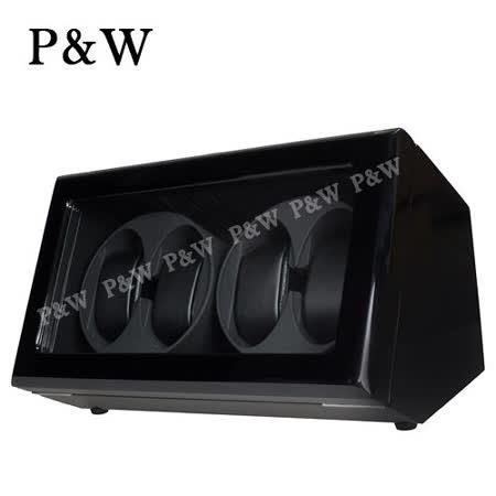 【P&W手錶自動上鍊盒】 【木質鋼琴烤漆】 【玻璃鏡面】4支裝 四種模式 機械錶專用