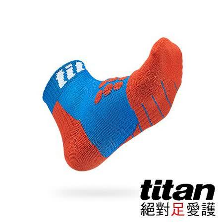 Titan全方位球類運動襪-藍/紅