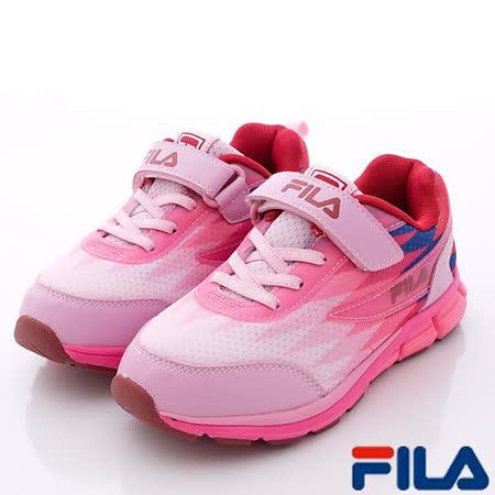 FILA頂級童鞋-炫彩輕量運動款-3-J803P-232粉-中大童段