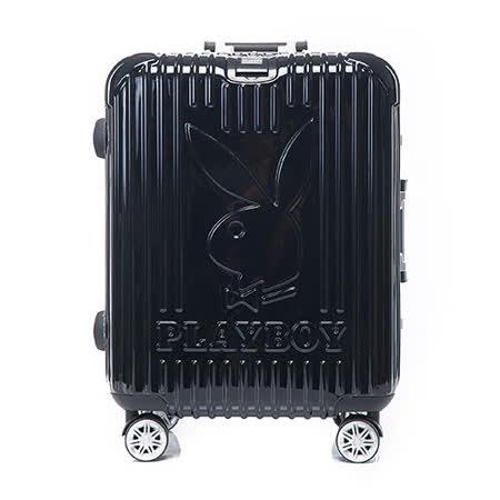 PLAYBOY- Bright 系列 20吋旅行箱-個性黑