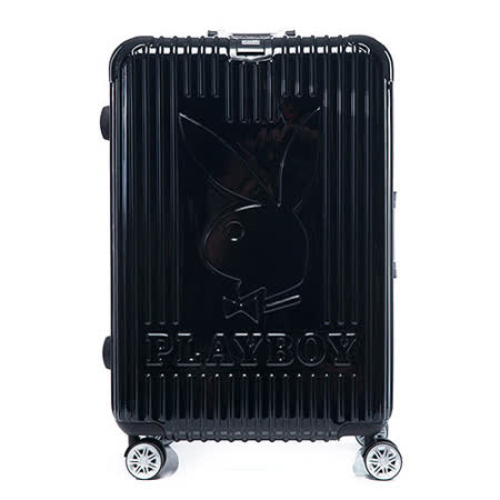 PLAYBOY- Bright 系列 26吋旅行箱-個性黑