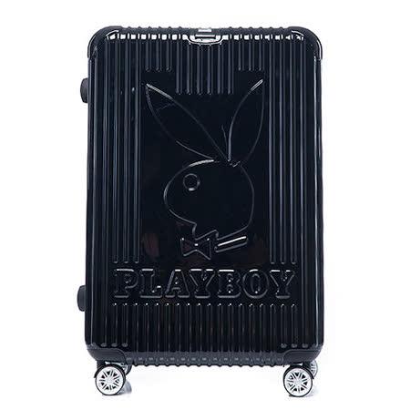 PLAYBOY- Bright 系列 29吋旅行箱-個性黑