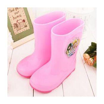 童鞋城堡 珍珠美人魚 中大童 甜美雙色底雨鞋 PI7128-粉
