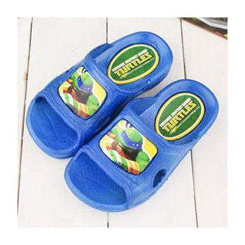 童鞋城堡 忍者龜 小童 一體成型男童拖鞋 TT1680-藍