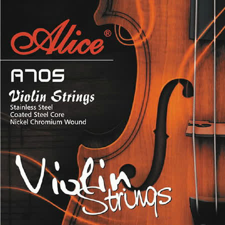 【美佳音樂】Alice A705 進口不鏽鋼絲/高級鋼芯/鎳鉻合金纏弦 小提琴套弦