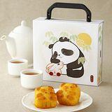 奇華中秋 熊貓奶黃禮盒2件組 (4入/盒 提盒)