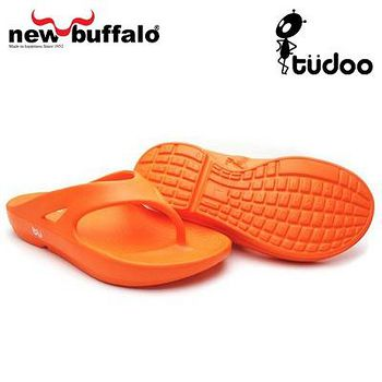 new buffalo 土豆星球tudoo動態平衡人字拖-歐林居號 (橘)