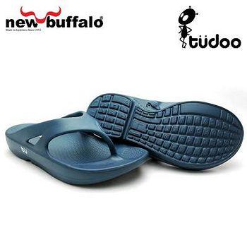 new buffalo 土豆星球tudoo動態平衡人字拖-布魯號 (藍)