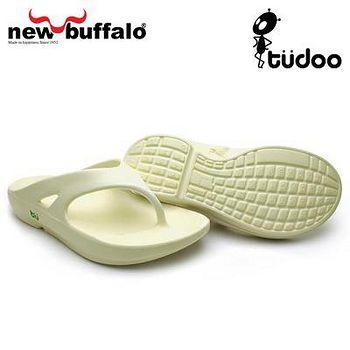 new buffalo 土豆星球tudoo動態平衡人字拖-懷特號 (白)