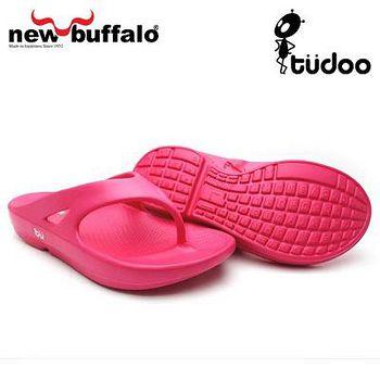 new buffalo 土豆星球tudoo動態平衡人字拖-瑞德號 (桃)