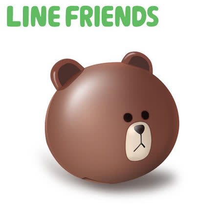 LINE FRIENDS 立體熊大 2.1A 雙USB高速充電器(LN-CR01)