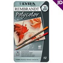 【德國LYRA】林布蘭Polycolor素描色鉛筆(12色) 2001120