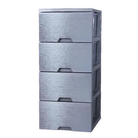[百貨通]金屬銀四層收納櫃 置物櫃整理櫃玩具櫃