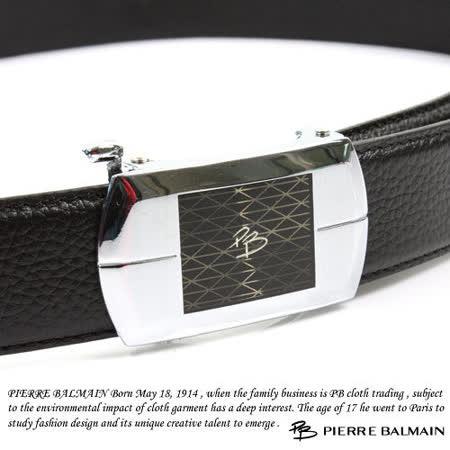 PB 皮爾帕門-頭層牛皮 精品 自動扣皮帶80533F