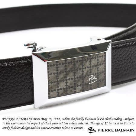 PB 皮爾帕門-頭層牛皮 精品 自動扣皮帶80552F