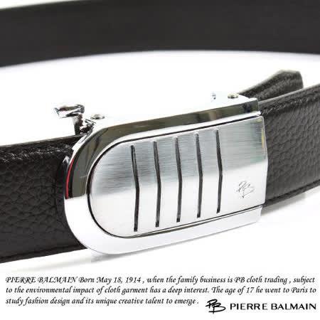 PB 皮爾帕門-頭層牛皮 精品 自動扣皮帶80553F