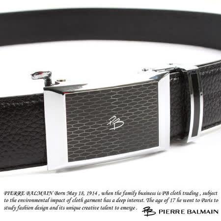 PB 皮爾帕門-頭層牛皮 精品 自動扣皮帶81501F