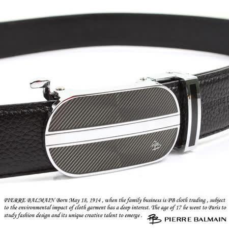 PB 皮爾帕門-頭層牛皮 精品 自動扣皮帶81505F