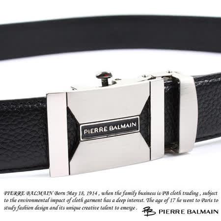 PB 皮爾帕門-頭層牛皮 精品 自動扣皮帶70603F