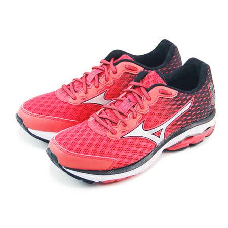 (女)MIZUNO美津濃 WAVE RIDER 18 慢跑鞋 紅/黑-J1GD150605