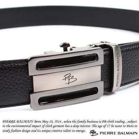 PB 皮爾帕門-頭層牛皮 精品 自動扣皮帶70302F