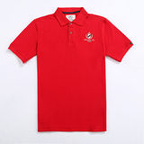 【Stoney.ax】100%純棉歐風經典美式POLO休閒衫-大紅