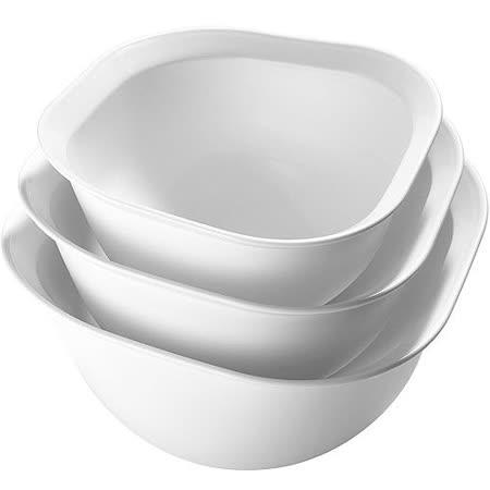 《CUISIPRO》菱邊打蛋盆3件(白)