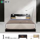 KIKY 佐佐木-白色-內嵌燈光雙人5尺床頭片