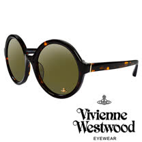 Vivienne Westwood 英國薇薇安魏斯伍德潮圓形復古個性太陽眼鏡(琥珀紅)