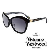 Vivienne Westwood 英國薇薇安魏斯伍德不規則幾何造型太陽眼鏡(黑)