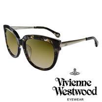 Vivienne Westwood 英國薇薇安魏斯伍德經典土星銀邊太陽眼鏡(琥珀黑)