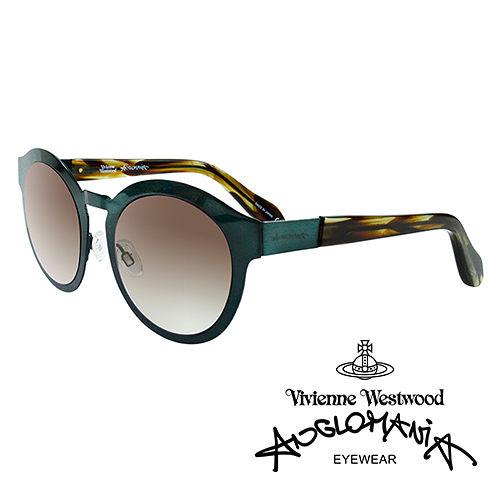 Vivienne Westwood 英國Anglomania太陽眼鏡~金屬 ~^(綠^)