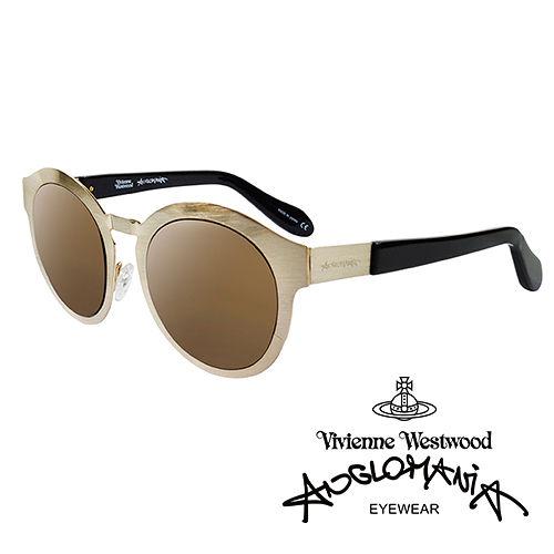 Vivienne Westwood 英國Anglomania太陽眼鏡~金屬 ~^(金^)