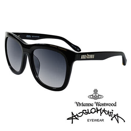 Vivienne Westwood 英國Anglomania太陽眼鏡★龐克經典LOGO流線造型★(黑)