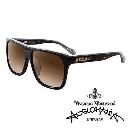 Vivienne Westwood 英國Anglomania太陽眼鏡★英倫時尚經典LOGO造型★(琥珀紅)