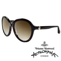 Vivienne Westwood 英國Anglomania太陽眼鏡★立體龐克多邊形土星款★(黑)
