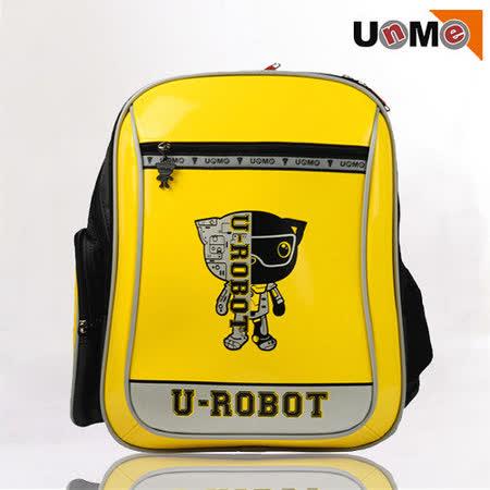 【UnMe】Robot機器人彈性肩帶後背書包(黃色)