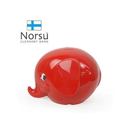 Norsu 北歐雜貨 大象造型 存錢桶 - 紅.
