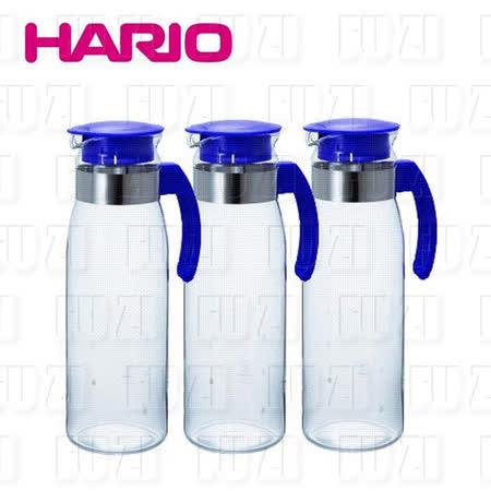日本HARIO 耐熱抗菌玻璃冷水壺-1400ml(3入組)