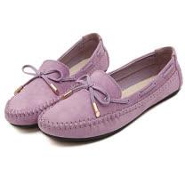 【Maya easy】經典不敗款甜美蝴蝶結莫卡辛豆豆鞋/ 休閒鞋 (紫色)
