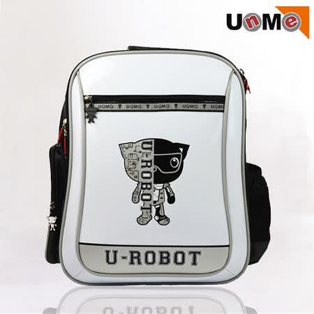 【UnMe】Robot機器人彈性肩帶後背書包(白色)