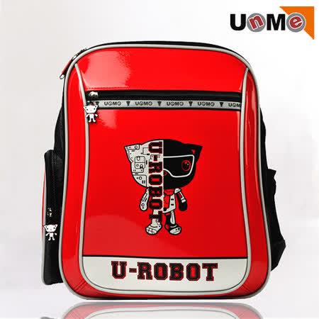 【UnMe】Robot機器人彈性肩帶後背書包(紅色)