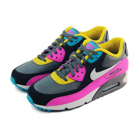 (男)NIKE AIR MAX 90 LTR 休閒鞋 深灰/紫紅/黃-652980200