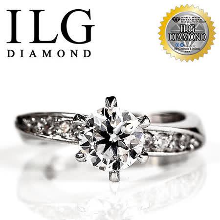 【ILG鑽】頂級八心八箭擬真鑽石戒指-RI014-好萊塢款 主鑽約1.5克拉 SP閃耀美姬生日禮物 OL小資女(白K)