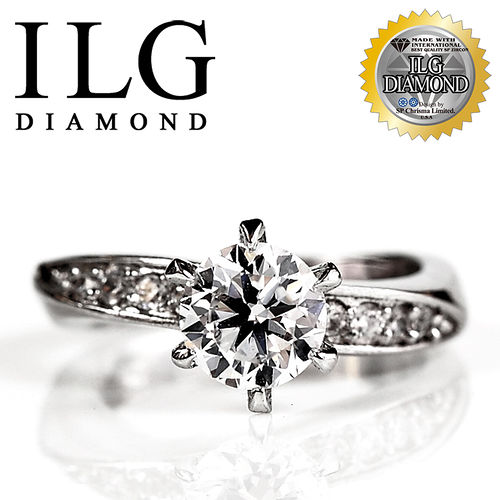 ~ILG鑽~ 八心八箭擬真鑽石戒指~RI014~好萊塢款 主鑽約1.5克拉 SP閃耀美姬生