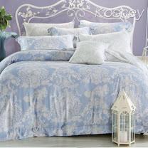 《KOSNEY 愛的華爾曼》雙人100%天絲TENCEL六件式床罩組