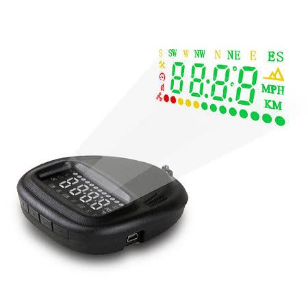 汽車 GPS 衛星定位 HUD 車速警go happy time示 抬頭顯示器 點菸器 即插即用 各種車款適用 顯示車速時間方位 (送擦拭布)