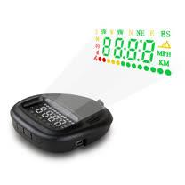 汽車 GPS 衛星定位 HUD 車速警示 抬頭顯示器 點菸器 即插即用 各種車款適用 顯示車速時間方位 (送擦拭布)