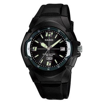 CASIO 休閒個性運動膠帶錶 (金屬黑)
