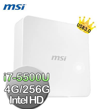 【msi微星】Cubi-076XTW i7-5500U 4G 256G輕巧隨行小主機(白色)